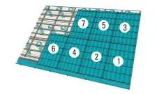 montarea acoperisului de tabla