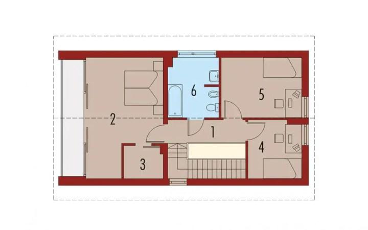 case cu etaj pentru tineri