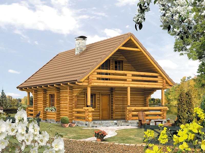 House Plans With Balcony and Porch. Open Homes With