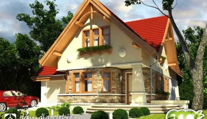 case cu fatada din piatra naturala