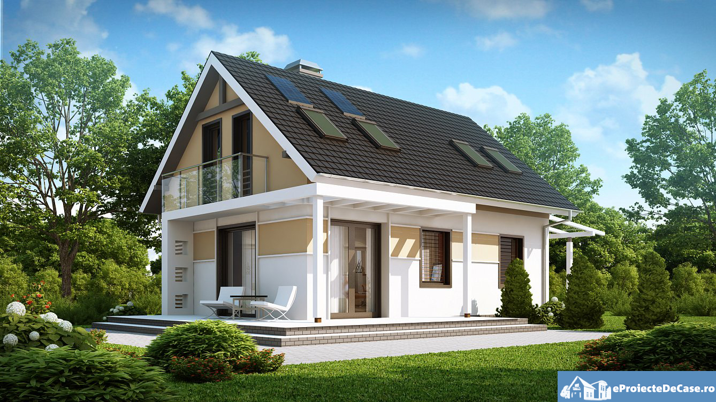 Modele de case mici cu mansarda accesibile si potrivite for Proiecte case cu mansarda 2017