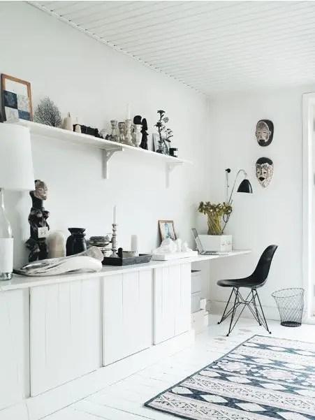 casa in stil scandinav dormitor birou