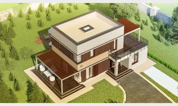 Case cu etaj pentru tineri. Design autentic