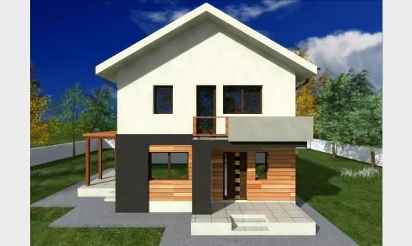 Case cu etaj pentru tineri. Design traditional