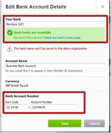 Set Up Bank Account Caseron Cloud Accounting