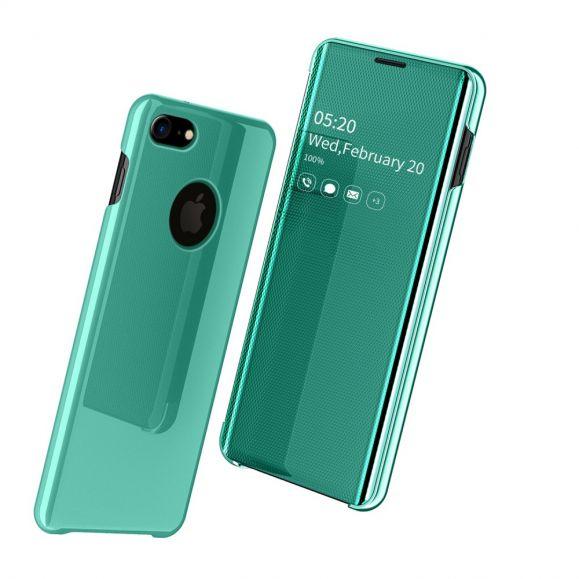 coque iphone se 8 7 avec rabat effet miroir