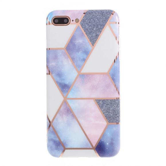 coque iphone 7 plus 8 plus marbre geometrique