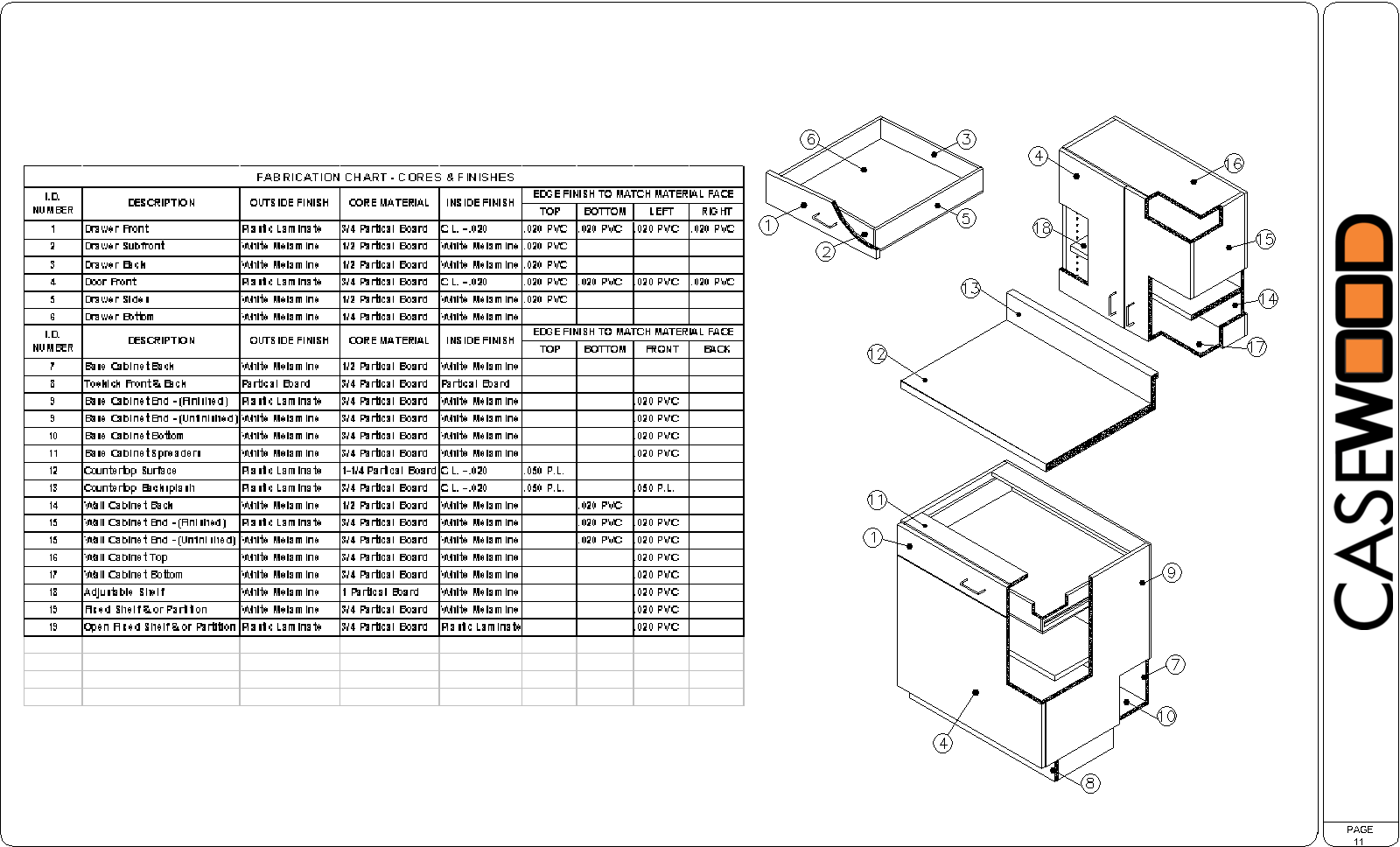 Sample Cad Drawings | Casewood