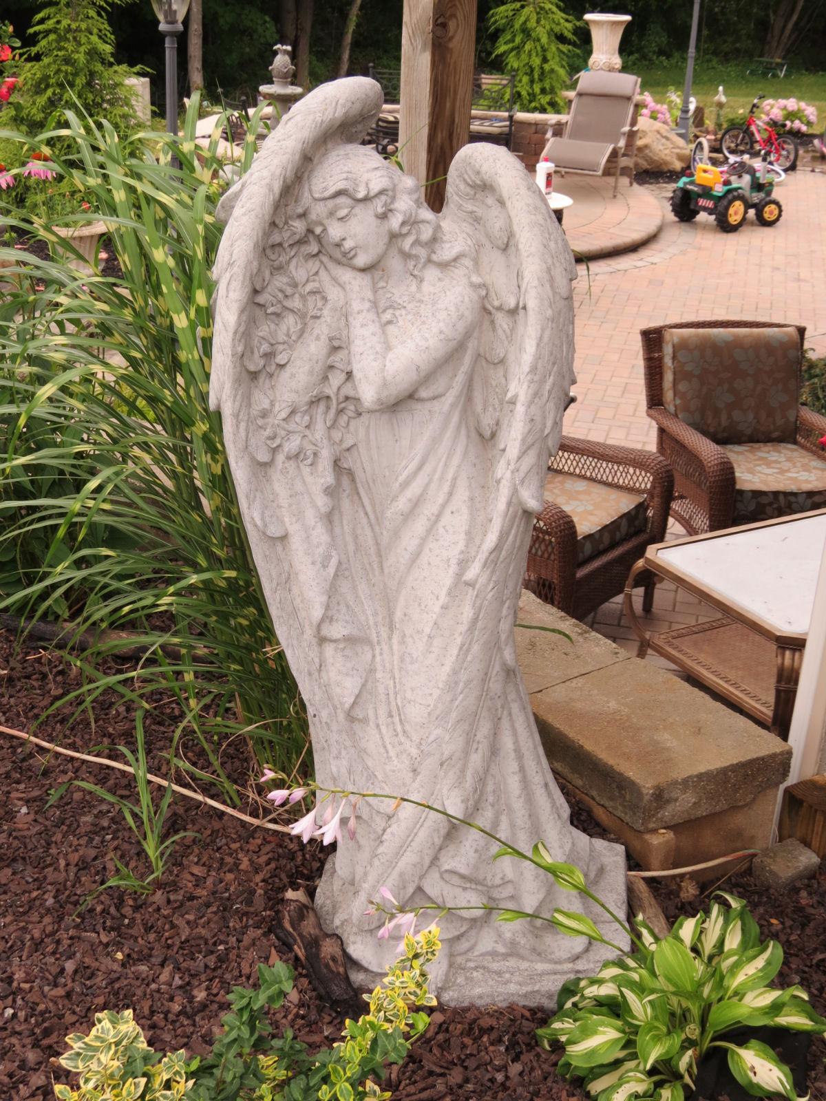 Concrete Angel Statue  Casey and Gram