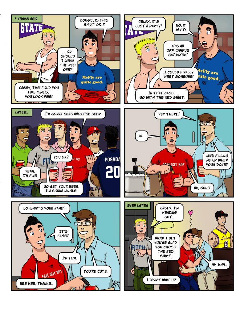 catb 82: One Shirt Two Shirt Red Shirt Blue Shirt