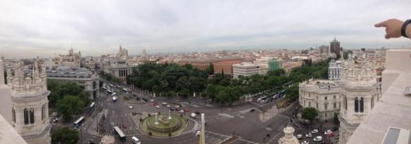 View from top of Palacio de Cibeles