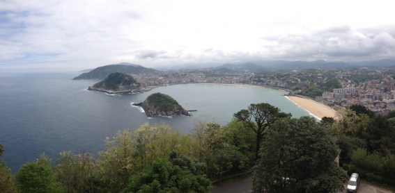 Bay of La Concha and San Sebastián from Monte Igueldo