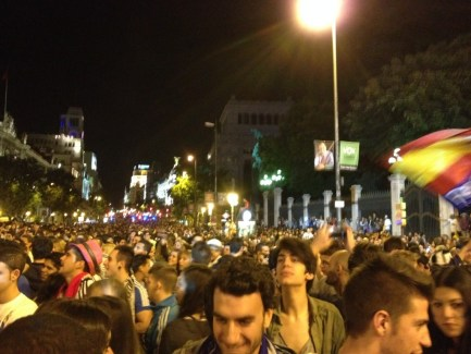 Party in Cibeles