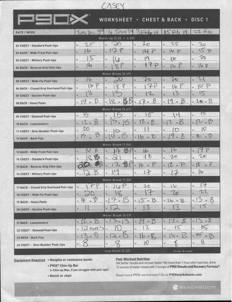 Worksheets P90x2 Worksheets p90x2 workout sheets ab ripper yourviewsite co p90x day 15 chest back x photos caseyfriday com