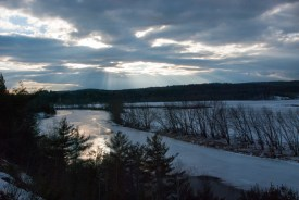 Sunset over the Contoocook at Muchyedo walking Trails, Penacook.