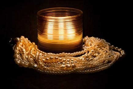 Candle and Pearls