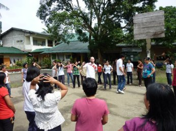 As a Peace Corps volunteer in the Philippines, I illustrated virus transmission with a game in which participants shook hands to signify sexual contact.