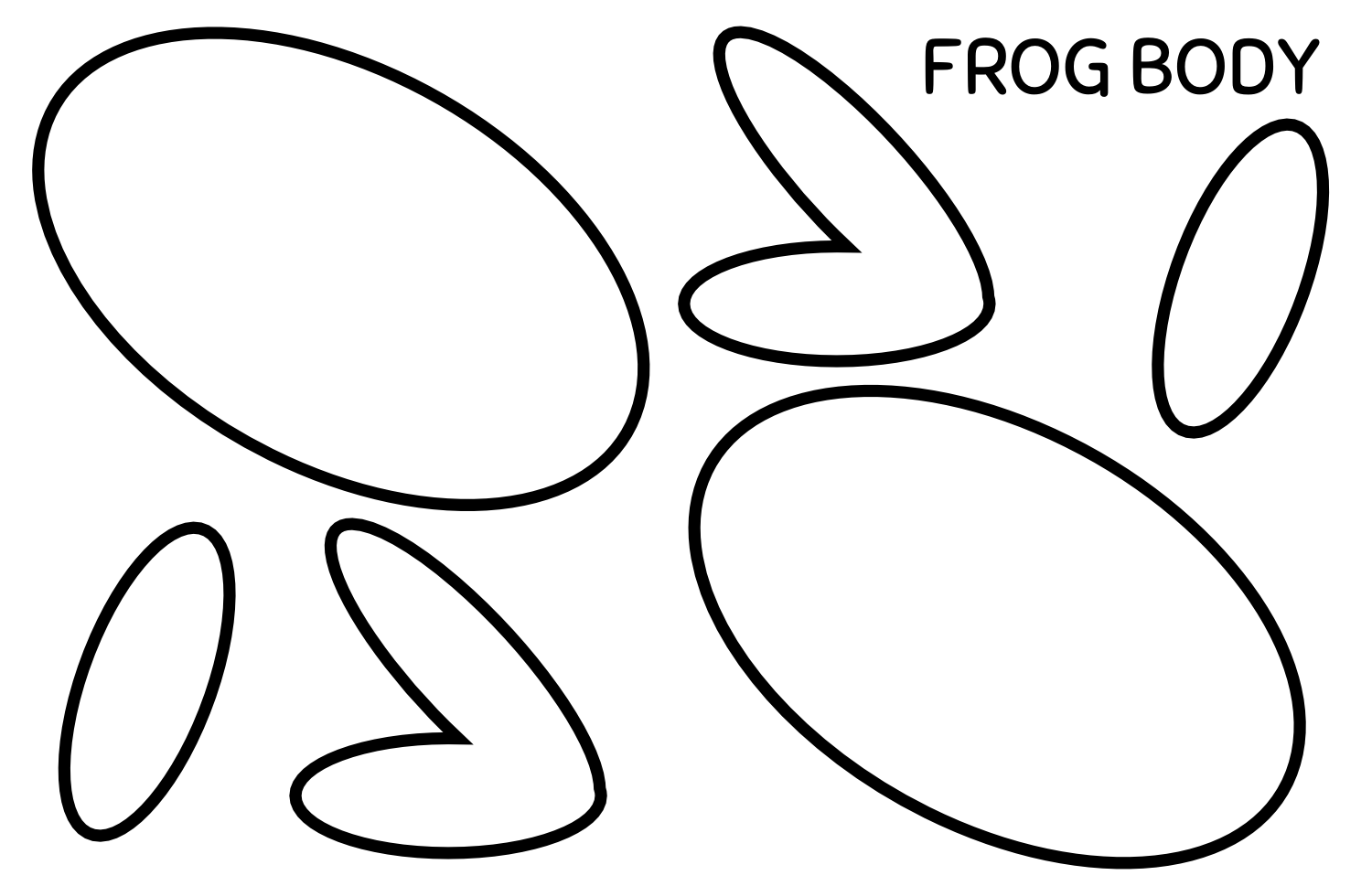 Amphibian Abstracts Frog Paper Craft
