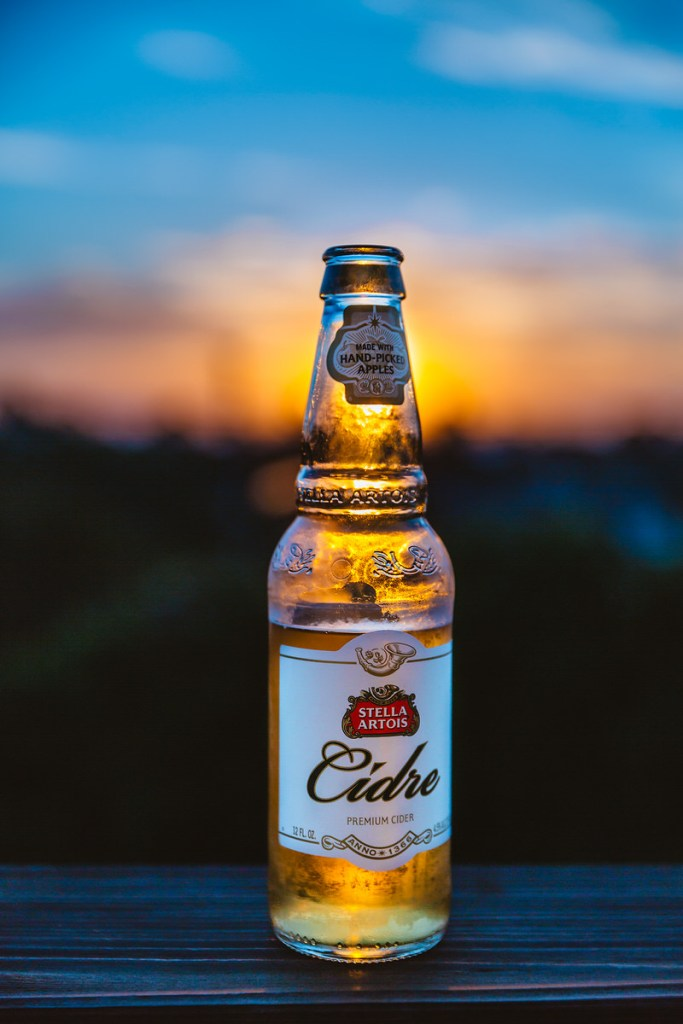 stella cider product photography