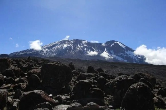 A look at what the peak of Kilimanjaro looked like as we walked toward it on Day Three