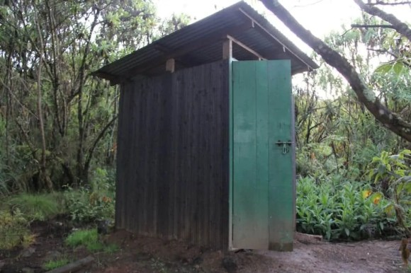 It's a picture of an outhouse. Seriously.