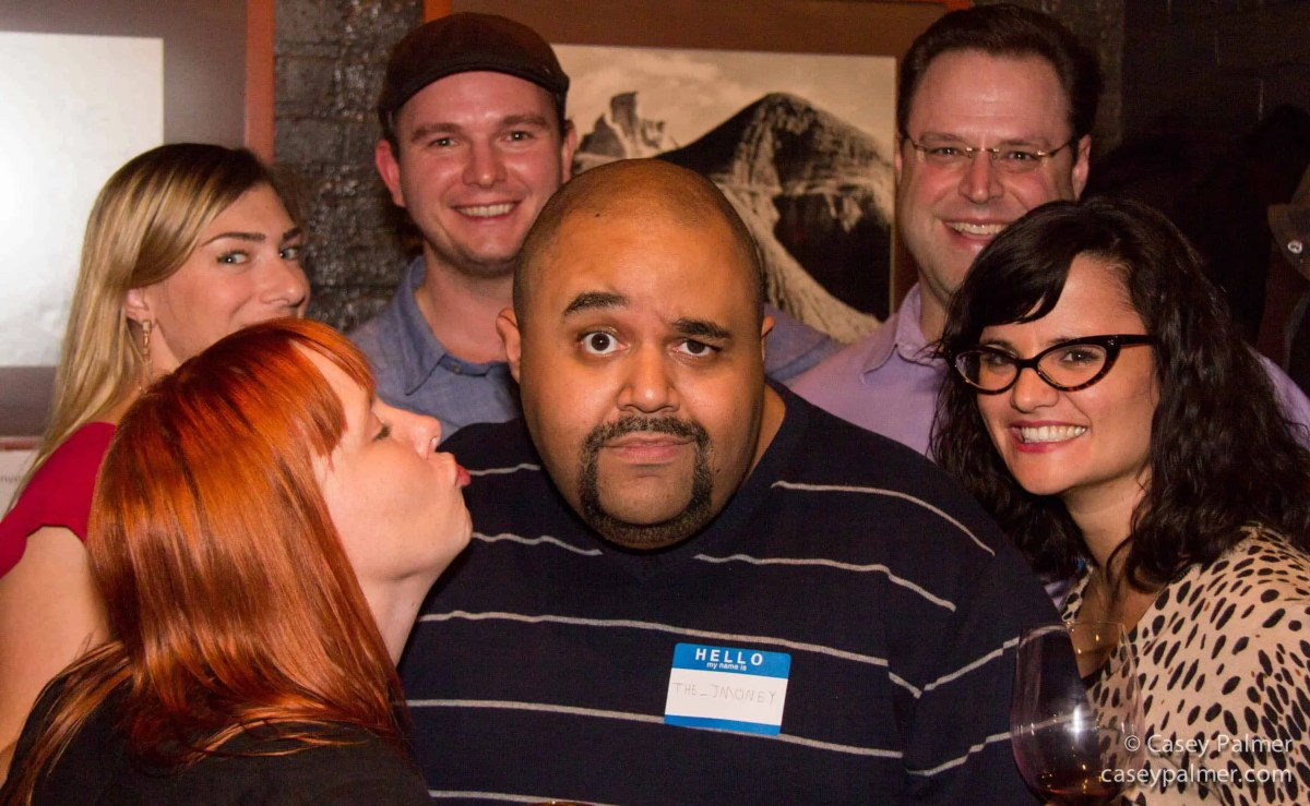 A shot of several of my Twitter friends at a CanyonOnFront event in 2014: Justin Baisden, Kate Notwell, Tiffany Heimpel, Chris Vollick, Graham Rowlands, Amanda Rowlands.