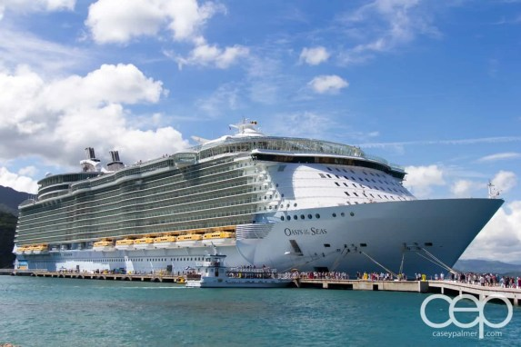 """A photo of Royal Caribbean's """"The Oasis of the Seas"""" — the largest cruise ship in the world."""
