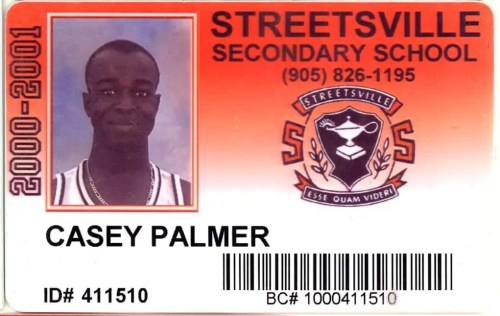 A photo of my 2000-2001 high school student card.