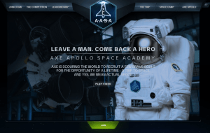 The header image for the AXE Apollo Space Academy contest.