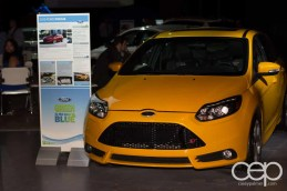 The 2013 Ford Focus on display at the Ford Blue Party
