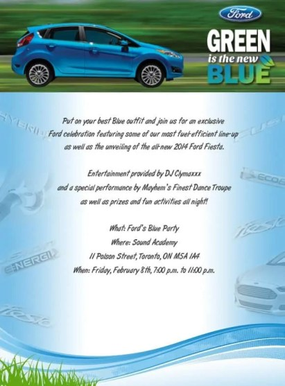 The update that Ford Canada sent out to let us know that the party was on despite Snowmageddon