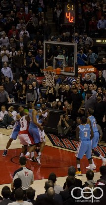 Rudy Gay fires off a final shot to try and win the game...