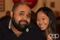 Justin Baisden and Lily Yee at Memphis Fire Barbecue Company in Winona, ON