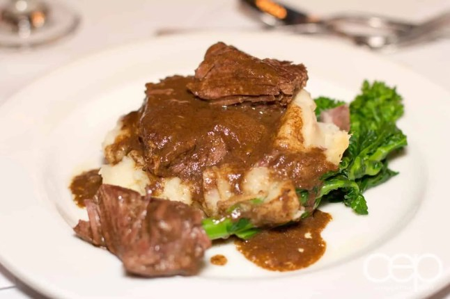 Braised boneless beef rib at Mysteriously Yours... Mystery Dinner Theatre