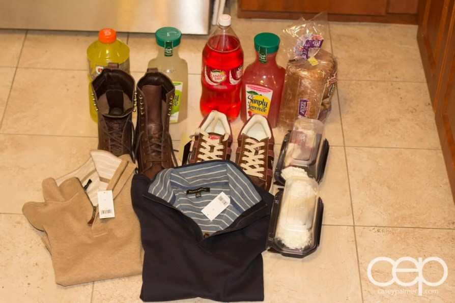 The sum total of all the stuff I bought in Buffalo, NY.