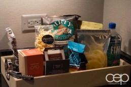 The Cosmopolitan Wraparound Terrace Suite — Kitchen — Expensive Snacks