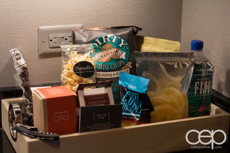 The Cosmopolitan Wraparound Terrace Suite — Kitchen — Expensive Snacks