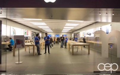 A very quiet Apple Store at the Forum Shops at Caesar's Palace in Las Vegas, Nevada