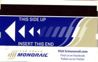 Las Vegas Monorail Ticket