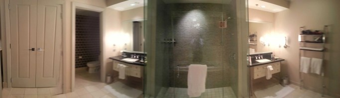 The Cosmopolitan Wraparound Terrace Suite — Master Bathroom —