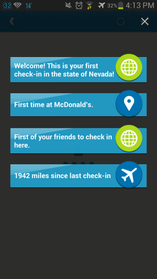 Amazing Foursquare check-in from Toronto to Las Vegas!