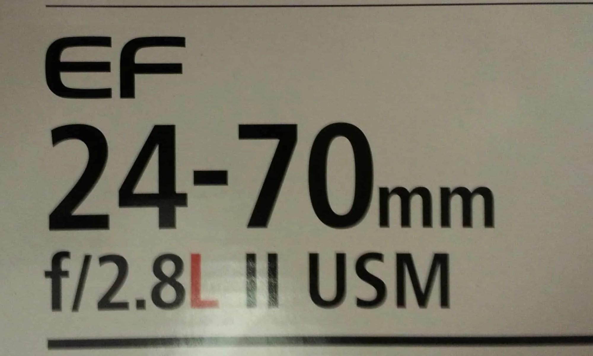 Canon EF 24-70mm f/ 2.8L II USM Lens Box