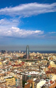 A bird's-eye view of Barcelona, Spain