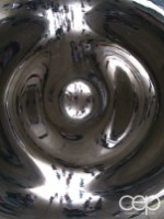 One of the various shots of the Cloud Gate in Chicago, IL — this time from underneath the sculpture
