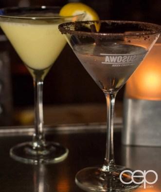 The Martini House martinis — Left: The Lemon Drop; Right: The Polar Bear