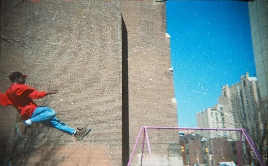 Casey Palmer swing jumping at age 12