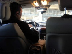 Our driver Ernie from Las Vegas Limousines taking us to our destination