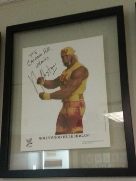 Hulk Hogan's signed photo in the CTV Green Room
