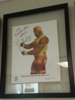 Hulk Hogan's signed photo in the CTV Green Room