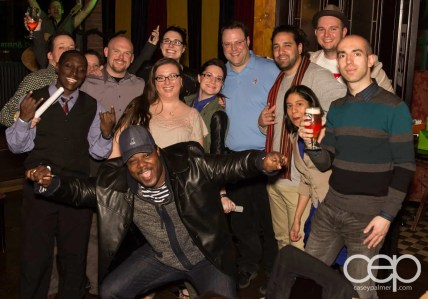 After Work Drinks Toronto 8 — #AWDTO — End of night crowd (PHOTOBOMB!)